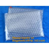 China Cosmetic Slider Ziplockk Bubble Bags Bubble Slide Pouch,Ziplockk esd bubble bag bubble packaging wrap cosmetic pouch slide on sale