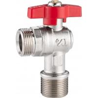 Quality 5101A Gas Stove Valve Brass Ball Valve Angle Type DN20 for Heating System Water Supply with Stainless Steel Wall Cover for sale