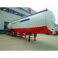 Quality 50000 Liters 3 Axle Aluminum Fuel Tank Trailer , Stainless Steel Oil Tank Truck for sale