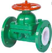 Quality GB syandard weir pattern fluorine plastic lined diaphragm valve for sale