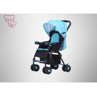Quality Textile Fabric  High Landscape Baby Stroller Iron Tube Frame Suspension Wheels for sale