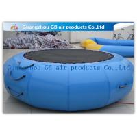 Quality Exciting Inflatable Water Game / Rave Sports Water Trampoline Blue Color for sale