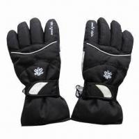 China Ski Gloves with Extended Knit Cuff, Built-in Water-resistant Function on sale