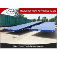 Quality Three Axle Flatbed Container Trailer 40 Ft Flatbed Trailer For Tractor for sale