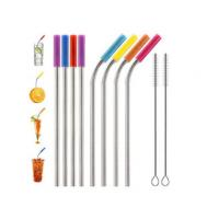 Quality Food Grade Flexible Silicone Tubing Straw Sleeve Tip Round Shape FDA SGS Certificated for sale