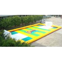 Quality Dry Land Inflatable Football Field , Inflatable Soccer Court with Water for sale