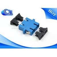 Quality Blue Fiber Optic Cable Adapter With Flange For FTTH Communication for sale
