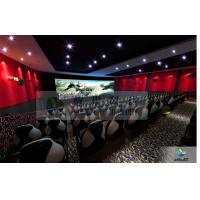 Quality Large High Definition 4D Movie Theater Motion Chair With Arc Screen for sale