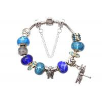 China Dragonfly Pendant DIY Glass Beaded Jewelry Bracelets Alloy Charm Bead Bracelets on sale