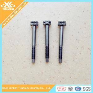 Gr5 knurling head titanium screws and bolts