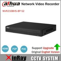 China Dahua POE NVR NVR2108HS-8P-S2 8CH Network Video Recorder Full HD 1080P Recorder With 1SATA 2USB Interface on sale