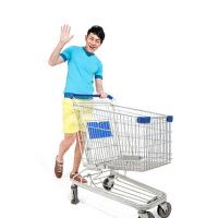China Metal Supermarket Shopping Trolley , Supermarket Grocery Shopping Cart on sale
