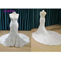 Quality Classical Pure White Princess Bride Wedding Dress For Elegantly Older Bridal Custom Made for sale