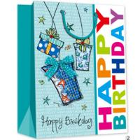 Quality Very popular birthday design gift packing paper bag in US market for sale