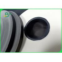 Quality 60 & 120gsm Black / White Straw Paper Tube Roll Customizable For Beverages for sale