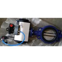 Quality DN40 - DN1800 Cast Steel Butterfly Valve / Pneumatic Butterfly Valve For Sewage for sale