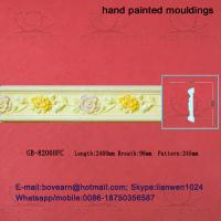 Quality Hand Painted Hollow PU cornice Mouldings /Foam Mouldings for sale