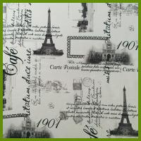 Quality Eiffel Tower or La Tour Eiffel printed designs tablecloth made of 100% polyester woven fabric for sale