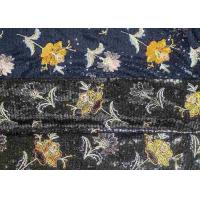 Embroidery Sequin Lace Fabric with 3D Elegant Multi Colored Flowers Pattern