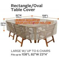Quality RECTANGLE, PVAL TABLE COVER, LARGE W/UP TO 6 CHAIRS FITS UP TO 108L 85W 23H, SEWING WATERPROOF PE TABLE CHAIR COVER B for sale