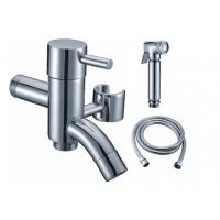 Quality Two Ways Bib Cock With Arab Brass Shower And 1.2M Stainless Steel Hose for sale