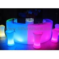 Illuminated LED lighted table bar counter with LED lighting and remote for events planner and party