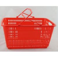 Quality Flexible Plastic Shopping Hand Baskets / Reusable Grocery Shopping Baskets With Handles for sale