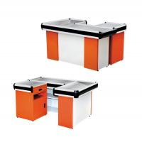 Quality Modern Retail Checkout Counters Sturdy Structure Cold Rolled Steel Material for sale