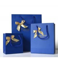 Quality Custom Luxury Bouquet Clothing Shopping Retail Black Paper Bags With Logo Print for sale