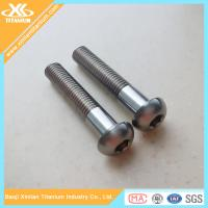 High tensile Gr5 M10 titanium hex socket button head bolts