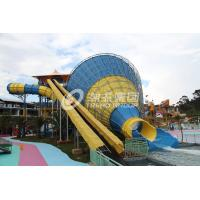 Tornado fiberglass water pool slides for adult , swimming pool slides