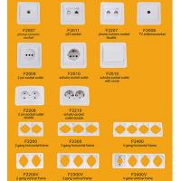China Elendax Top Best Selling Wall Switch and Socket for Europe ABS Material White(F2000) on sale
