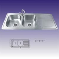 Quality American Standard Stainless Steel Kitchen Sinks Undermount , Double Bowl 380X320 for sale