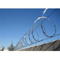 Quality Security 304 Concertina Wire Fencing , Razor Wire Barrier Decorative Barbed for sale