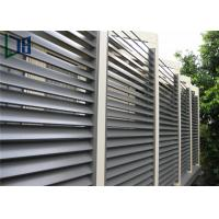Quality Aluminum Frame Plantation Shutter Aluminum Louvers For External Sun Shading for sale