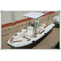 Quality Comfortable White color Towable Inflatable River Boats RHIB Boat 5.8m length RIB580A for sale