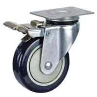 Quality Pu casters with total brake for sale