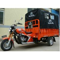 Quality 200CC Cargo Tricycle Delivery Van with Rear Canvas Cover for Outdoor Raining Areas for sale