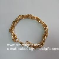 China Gold plated steel fashion jewelry twist chain bracelet supplier on sale