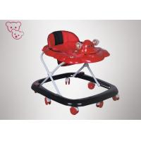 Quality Push Bar Purple Baby Walker ,  Cartoon Sit In Baby Walker 0 - 3 Years Old for sale