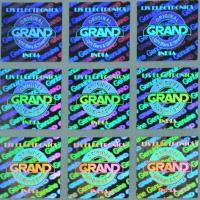 Quality 3D Hologram anti-counterfeit Stickers / Anti Counterfeit Label With Serial Number Codes for sale