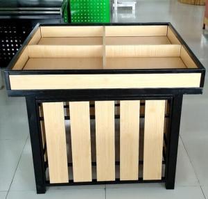 Quality OEM Wood Metallic Supermarket Display Shelving / Retail Display Rack for sale