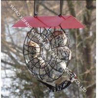 Quality Circle Bird Feeder Squirrel Proof Fat Ball Lantern With Red Roof Unique Design for sale