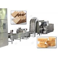 Buy cheap Gas Heating Wafer Biscuit Production Line , Wafer Snack Biscuits Making Machine from wholesalers