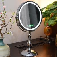 Quality Metal Double Sided Rotatable Led MakeUp Mirror Iron With Chrome Plated for sale