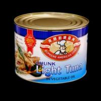 Buy cheap Canned light meat tuna in vegetable oil 66.5 oz from Wholesalers