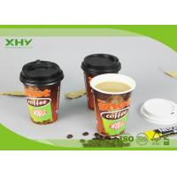Quality 12oz Glossy Finished Custom Logo Printed Disposable Coffee Single Wall Paper Cups with Lids for sale