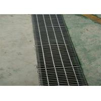 Quality Press Welded Steel Bar Grating , Outdoor Drain Stainless Steel Open Mesh Flooring for sale