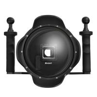 Quality 3.0 Pro Vision 6 Inch Diving GoPro 4 3+ Black Dome Port With Extra LCD Waterproof Housing Case for sale