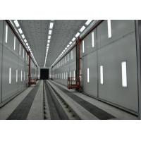 Quality Roller Shutter Door Truck Vehicle Paint Booth Downdraft With Working Platform for sale